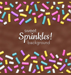 Seamless background chocolate donut glaze vector