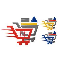 shop online logo design template vector image