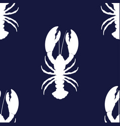 simple lobster pattern vector image