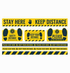 social distancing please keep your distance safe vector image