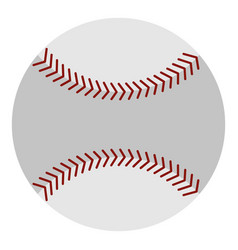 Softball ball icon isolated vector