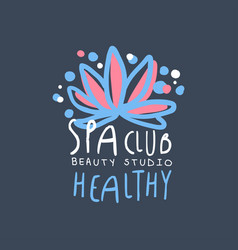 spa club beauty studio logo design emblem for vector image