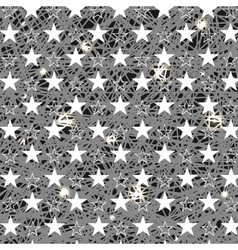 Starry Grunge Grey Background vector