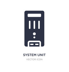 System unit icon on white background simple vector