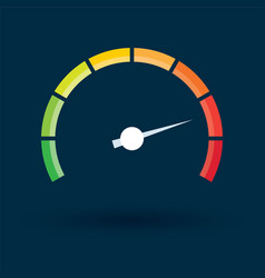 tachometer with color values vector image