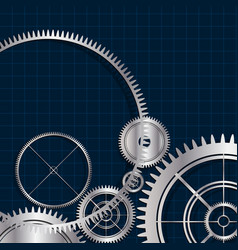 Technological modern gears background vector