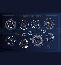 technology futuristic modern user interface circle vector image