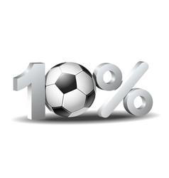 Ten percent discount icon vector