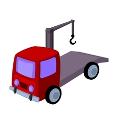 Tow truck icon in cartoon style isolated on white vector image