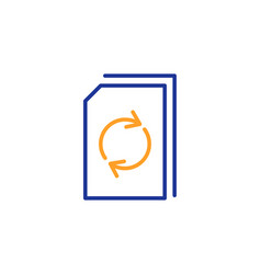 Update document line icon refresh file sign vector