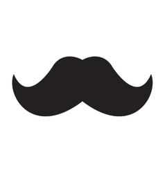 Vintage mustache icon vector