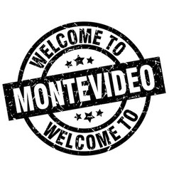 Welcome to montevideo black stamp vector