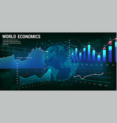 World economics concept 3d earth globe vector