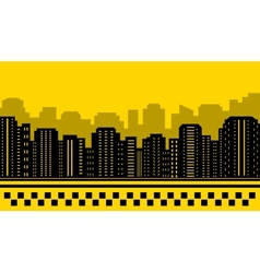 yellow backdrop for city taxi vector image