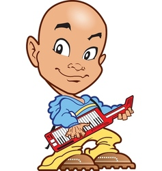 Bald Keyboard Player vector image