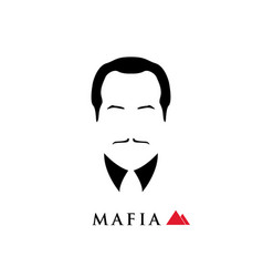 boss of the italian mafia vector image vector image