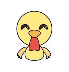 draw chicken animal comic vector image