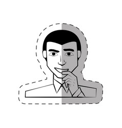 man people male character vector image