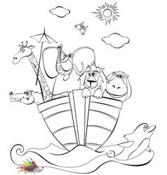 Noah arc vector image