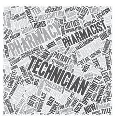 Pharmacy technician a great career opportunity vector
