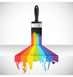 rainbow brush vector image vector image