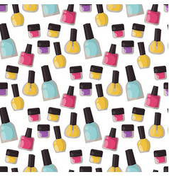 red nail polish bottle varnish enamel glamour vector image