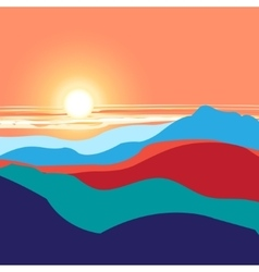 graphics landscape sunset vector image vector image