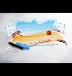 grunge basketball design vector image vector image