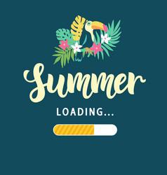 summer loading modern amusing poster vector image