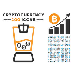 bitcoin blender flat icon with vector image vector image
