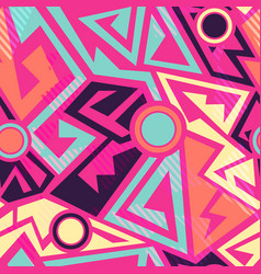 bright geometric pattern vector image