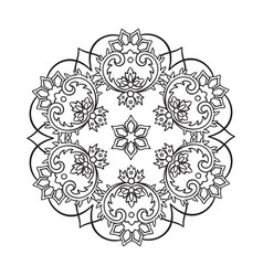 decorative indian round lace ornate mandala vector image vector image