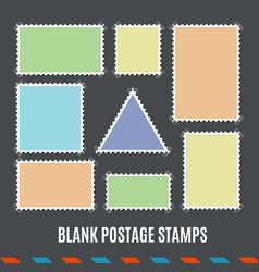 empty template blank postage stamps set vector image vector image