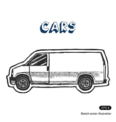 Minibus for cargo transportation vector image vector image