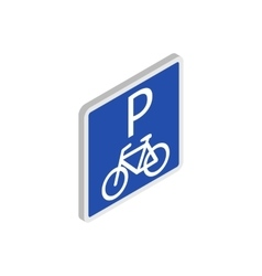 Parking for bicycles icon isometric 3d style vector image vector image
