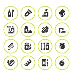Set round icons of hygiene vector image