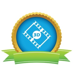 Gold 3d film logo vector image