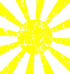 Sun Background with Grunge Effect vector image