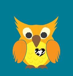 Valentine Owl vector image vector image