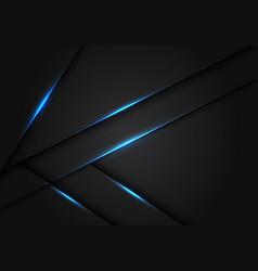 Abstract blue light dark grey metallic overlap vector