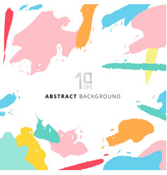 Abstract shapes art pattern pastels color on vector