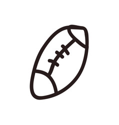 American football cartoon vector