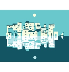 Asian City set vector image