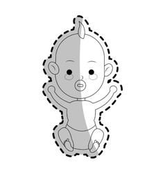 Baby cartoon icon vector