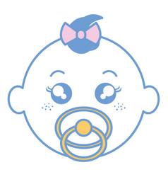 Baby face happy vector