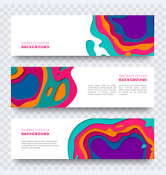 Banner color abstract multi gradient color layers vector