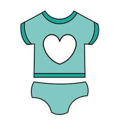 beautiful clothes babys vector image