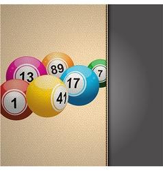 Bingo agenda on cream leather vector image
