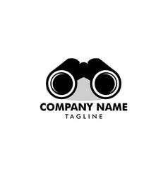 binoculars logo vector image