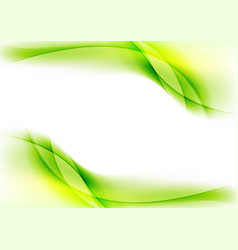 Bright green smooth liquid waves abstract shiny vector